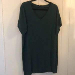 MADEWELL forest green large dress EUC